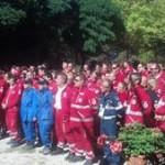 Gli operatori della Croce Rossa che hanno partecipato al Campo Scuola - ph. Jacopo Caridi