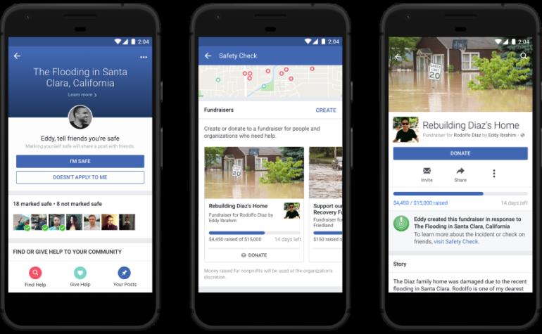 4 nuove funzioni di Facebook Safety Check