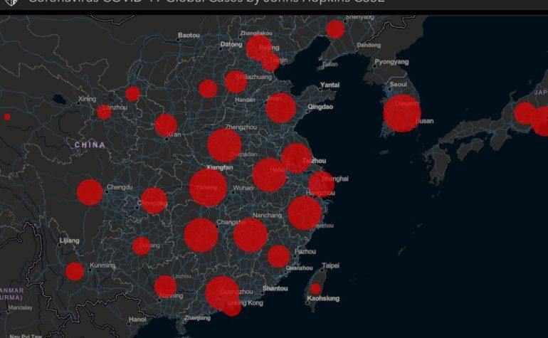 Descrivere la diffusione del Coronavirus con dati ufficiali e mappe