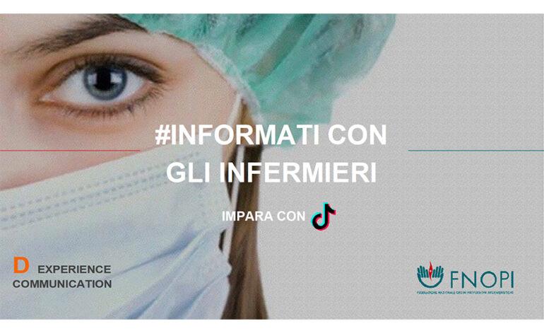 Informati con gli infermieri, l'iniziativa di FNOPI con TikTok