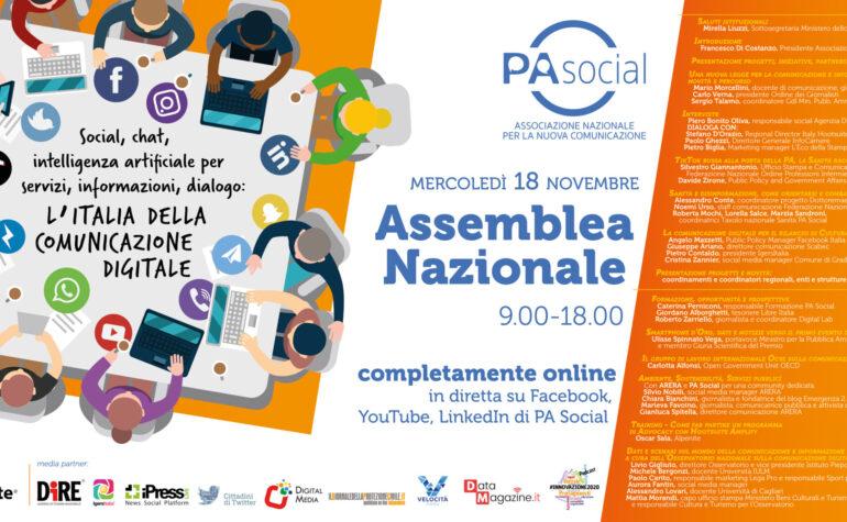 Sanità, la nuova legge per la comunicazione pubblica e l'ambiente al centro dell'assemblea nazionale di PA Social